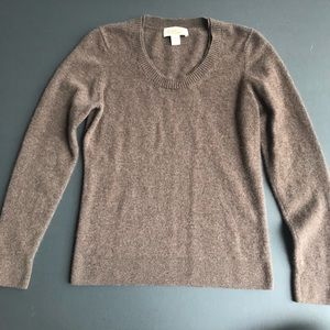 Peck & Peck Brown 100% Cashmere Sweater, Large
